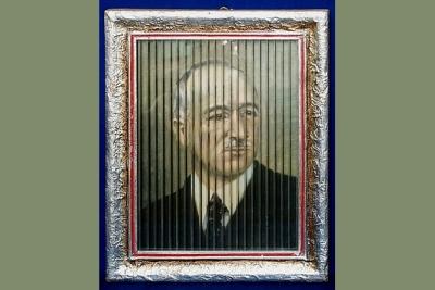 Obraz troch významných politikov bývalého Československa s optickou ilúziou