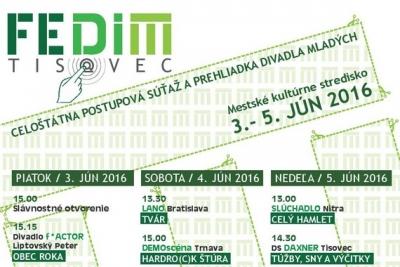 Celoštátny festival divadla mladých – FEDIM TISOVEC 2016