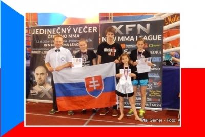 Bojovníčky z Revúcej získali 4 zlaté a 2 strieborné medaily aj v Prahe na MMČR v kickboxe