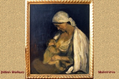 Predmetom mesiaca august v Gemersko-malohontskom múzeu je obraz Júliusa Rudnaya Materstvo