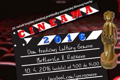 Kto získa Goskara na krajskej súťažnej prehliadke amatérskej filmovej tvorby CINEAMA 2016?