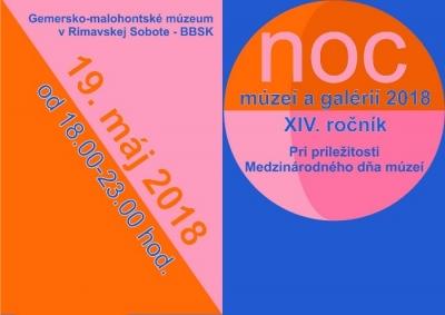 Noc múzeí a galérií 2018 v Gemersko-malohontskom múzeu v Rimavskej Sobote