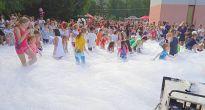Zábavno-športový deň pre deti, ale aj pre dospelých v Plešivci s hasičskou penou