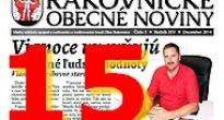 Pätnásť rokov vychádzania Rakovnických obecných novín