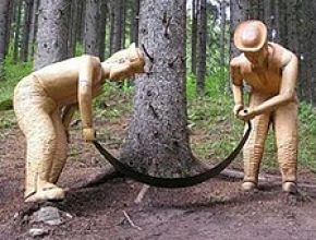 """Ratkovsko-lehotským nárečím: """"Peknvo, hrubvo drevo to je, bude dobre horeč, koj ho prihodímo do kachiel"""""""