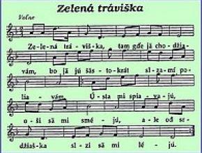 Zelená tráviška... Ľudová pieseň v sirkovskom nárečí