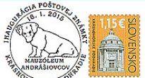 Dvadsiata príležitostná poštová pečiatka Dr. Štefana Burča vyprevadí novú poštovú známku z Krásnohorského Podhradia