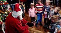 Mikuláš, čert a anjelik v Čiernej Lehote aj so snehovou nádielkou