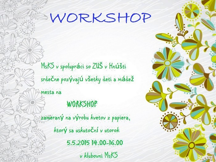 mal workshop hnusta