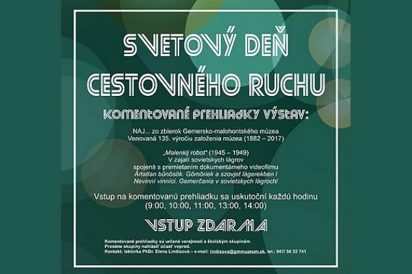 Svetový deň cestovného ruchu v Gemersko-malohontskom múzeu v Rimavskej Sobote