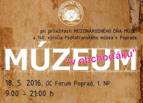 Pozvánka na podujatia Podtatranského múzea vPoprade a v Spišskej Sobote počas Noci v múzeách