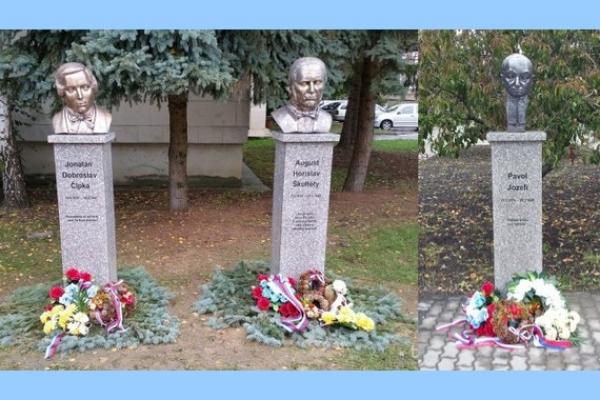 Na Námestí Štefana Marka Daxnera v Rimavskej Sobote odhalili busty troch národných dejateľov