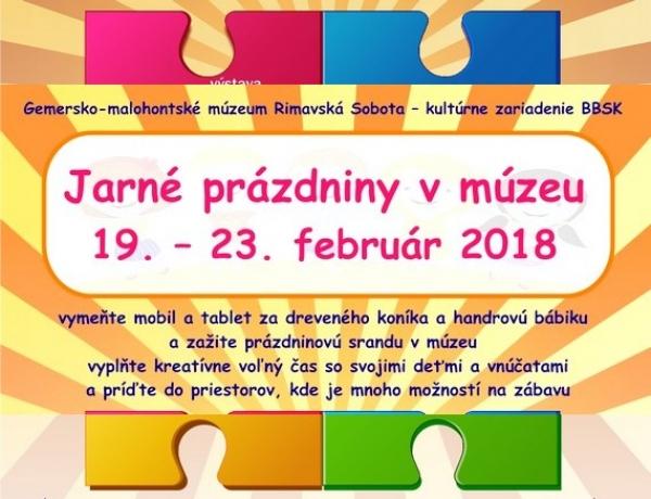 Počas jarných prázdnin Gemersko-malohontské múzeum ponúka bohatý a hravý program