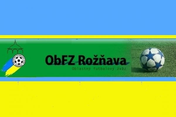 Úradná správa ObFZ Rožňava č. 19/2016-2017
