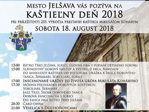 Kaštieľny deň v Jelšave nás vráti do obdobia Koháryovcov a koháryovských prestavieb spred 255 rokov