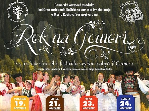 Zimný festival Rok na Gemeri už po dvadsiaty štvrtýkrát lákadlom pre milovníkov folklóru a ľudových tradícií