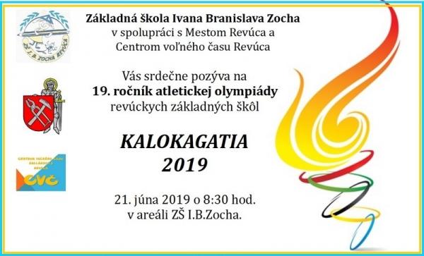 Pozvánka na Atletickú olympiádu žiakov základných škôl mesta Revúca KALOKAGATIA