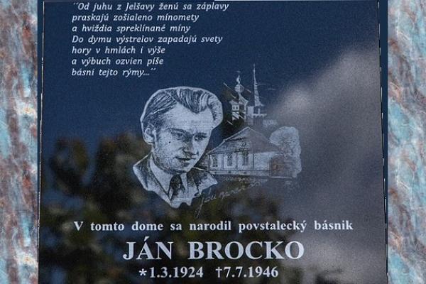 Úcta povstaleckému básnikovi Gemera Jankovi Brockovi z Revúcej k 70. výročiu úmrtia