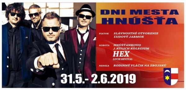 Hnúšťa: Dni mesta s Hexom, koncerty zadarmo