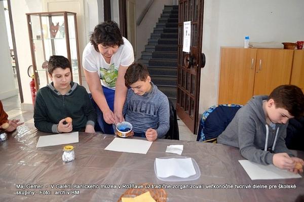 V Galérii Baníckeho múzea v Rožňave zorganizovali veľkonočné tvorivé dielne