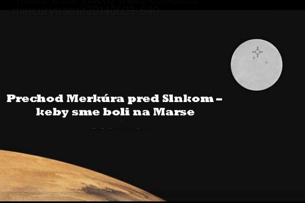 Pred očakávaným májovým tranzitom planéty Merkúr využime ešte prednášku o tomto astronomickom jave