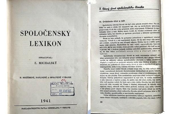Predmetom mesiaca júl v GMM je Spoločenský lexikón z roku 1941