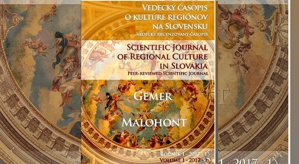 Pribudol Vedecký časopis o kultúre regiónov na Slovensku