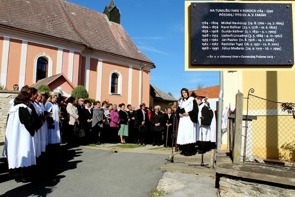 Slávnostné chvíle Cirkevného zboru ECAV v Gemerskej Polome