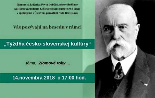 Zlomové roky. Týždeň česko-slovenskej kultúry