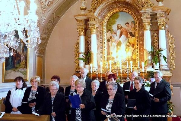 Štvrťstoročné jubileum evanjelického zborového spevokolu  v Gemerskej Polome