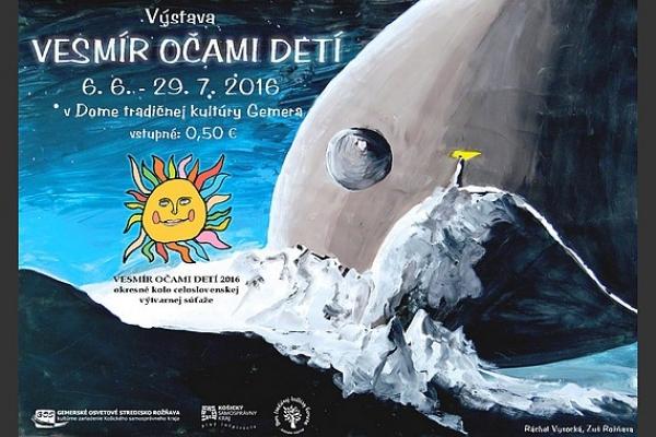 Práce detí z rožňavského okresu prihlásené do 31. ročníka celoslovenskej výtvarnej súťaže Vesmír očami detí sú vystavené