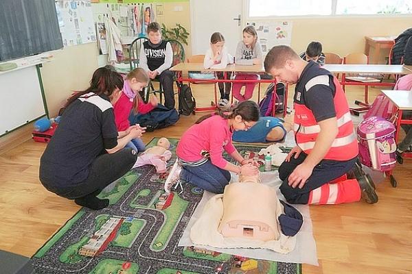 Mladí záchranári v Základnej škole Jana Amosa Komenského