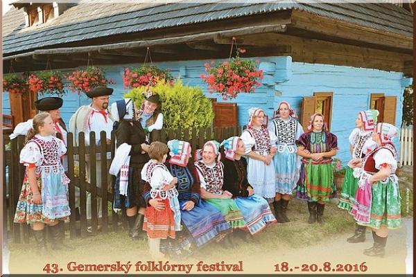 Pozvanie na 43. Gemerský folklórny festival do Rejdovej