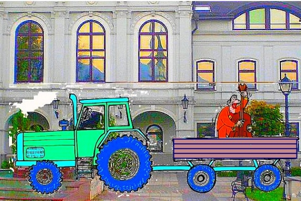 Sirkovskym nárečím: Basa na drvaťe