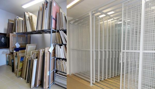 Nový závesný systém v Baníckom múzeu lepšie ochráni výtvarné diela