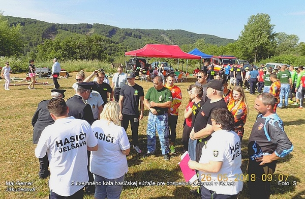 Rákoš prispel k dôstojnému priebehu územného kola hasičskej súťaže pre dospelých a dorast