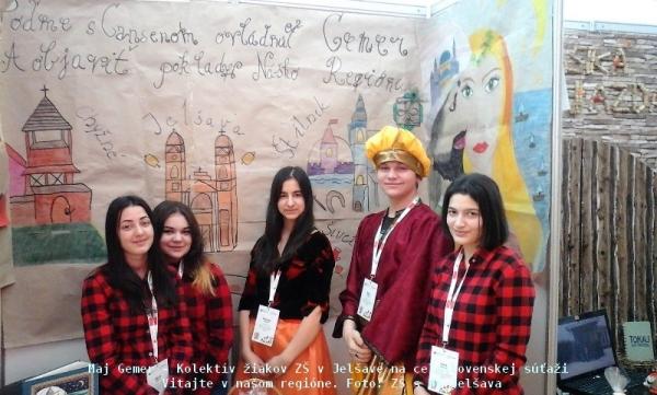 Opäť úspech tímu žiakov z Jelšavy na celoslovenskej súťaži Vitajte v našom regióne