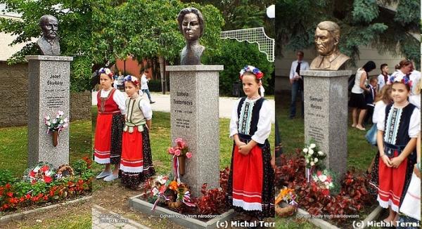 V Rimavskej Sobote odhalili busty slovenským dejateľom - Izabele Textorisovej, Samuelovi Reussovi a Jozefovi Škultétymu