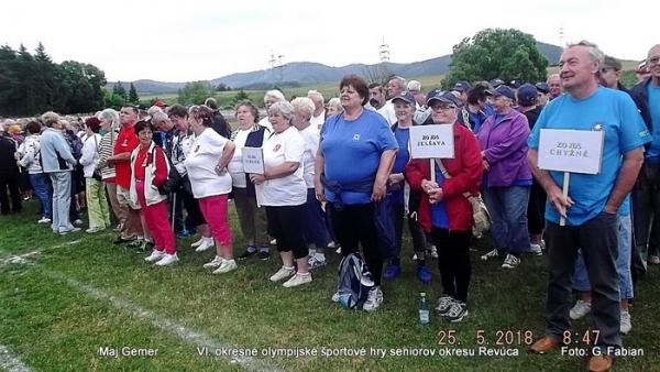 Lubeník privítal účastníkov VI. olympijských športových hier seniorov revúckeho okresu