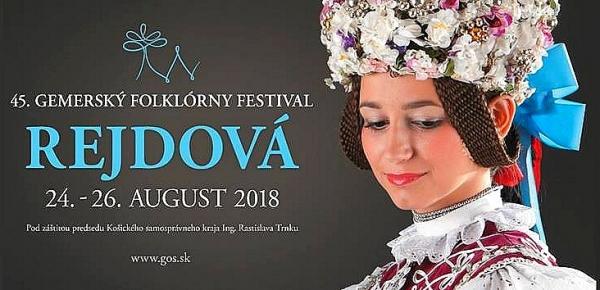 Gemerský folklórny festival v Rejdovej na svojom 45. ročníku predstaví to najlepšie z Gemera  a východného Slovenska