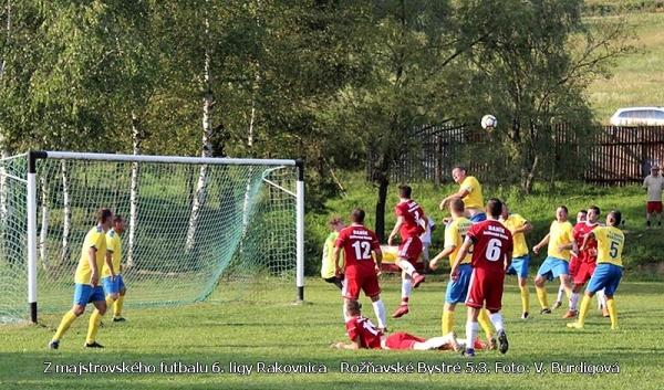 Druhý a zatiaľ najcennejší skalp rakovnických futbalistov - výhra 5:3 nad Bystranmi