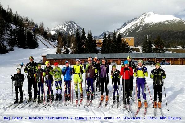 Revúcki biatlonisti v zimnej sezóne medzi slovenskými klubmi obsadili úžasné druhé miesto