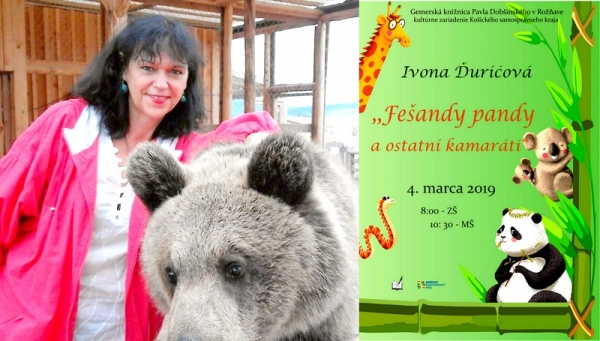 Fešandy pandy a ostatní kamaráti so spisovateľkou Ivonou Ďuričovou v Gemerskej knižnici Pavla Dobšinského v Rožňave