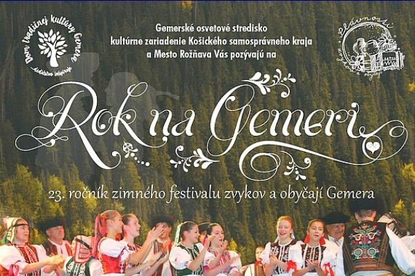 ROK NA GEMERI - ZIMNÝ FESTIVAL ZVYKOV AOBYČAJÍ GEMERA 20.- 24. novembra 2017 v Rožňave