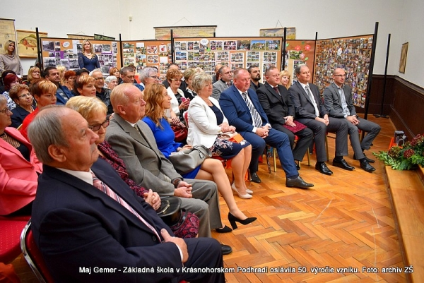 Zlaté jubileum Základnej školy v Krásnohorskom Podhradí