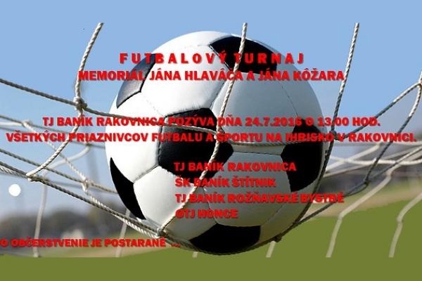 Prvenstvo na futbalovom turnaji v Rakovnici patrí Baníku Rožňavské Bystré