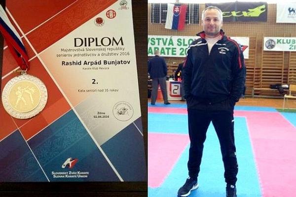 Rashid Arpád Bunjatov z Revúcej s titulom Vicemajster Slovenska v karate pre rok 2016