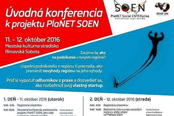 Agentúra pre rozvoj Gemera spúšťa projekt PlaNET SOEN – ENTERprise your region i v Rimavskej Sobote