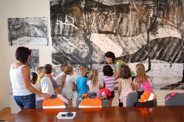 Galerijno-pedagogické hodiny k výstave ŽIŤ pre deti z MŠ Hrhov a MŠ Plešivec