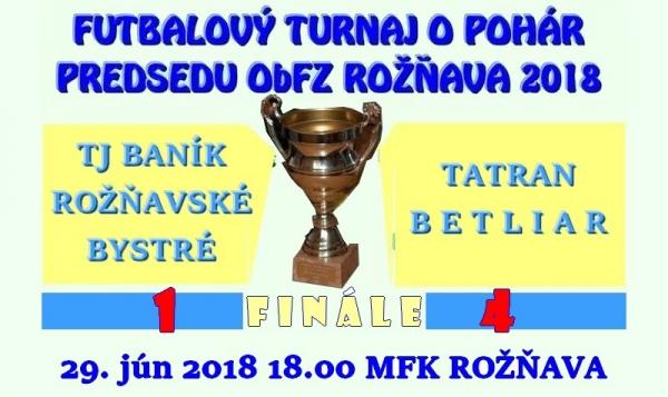 Pohár predsedu ObFZ Rožňava vo finálovom súboji s Baníkom Rožňavské Bystré získali futbalisti Tatrana Betliar